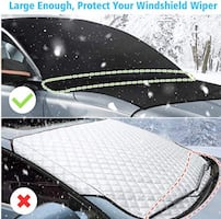 Car Windshield Snow Cover! 100%NEW Car Windsheild Cover With Mirror Covers Frost & Ice-Resistant, Windshield Snow Ice Cover Sun Shade Car Snow Cover,Windshield Protector for Car/Truck/SUV 82''x48.8''