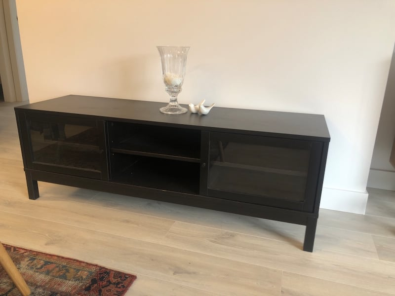 IKEA TV Stand - Solid Wood - Black 3