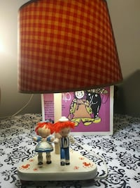 White base red and yellow table lamp Kingston, K7P 2W3