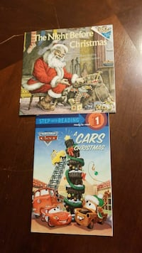 two assorted Christmas story books