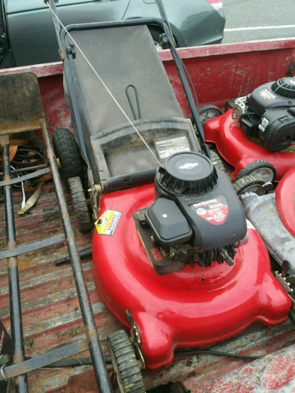 Bagged Lawn mower serviced