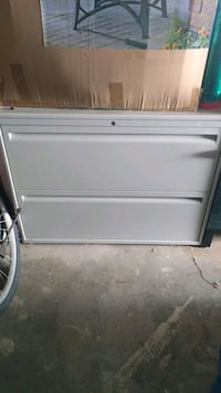 File cabinet with lock and key