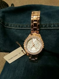 round gold-colored chronograph watch with link bracelet Mansfield, 76063