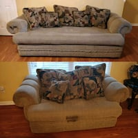 Couch Bed and Sofa Loveseat with Pillows Charlotte, 28212