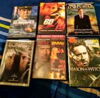 Dvd's. Nicholas Cage ,  $8 for all Macon, 31216