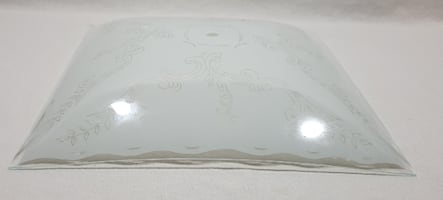"""FREE: Bedroom / Hallway Ceiling Light Cover Pan Glass, White Glass NEW 11.875"""" NEW"""