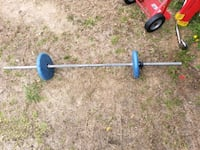 Bar bell and 10lb weight