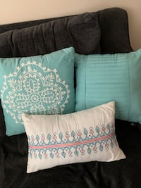 Three accent pillows, all for $15. No rips or stains. Woodbridge, 22191