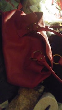 Red Danier Purse with Supruse Goodies