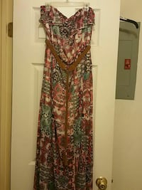 brown, pink, and green floral tube maxi dress McAllen, 78501