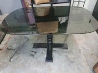 oblong glass top pedestal table Kingston, K7L