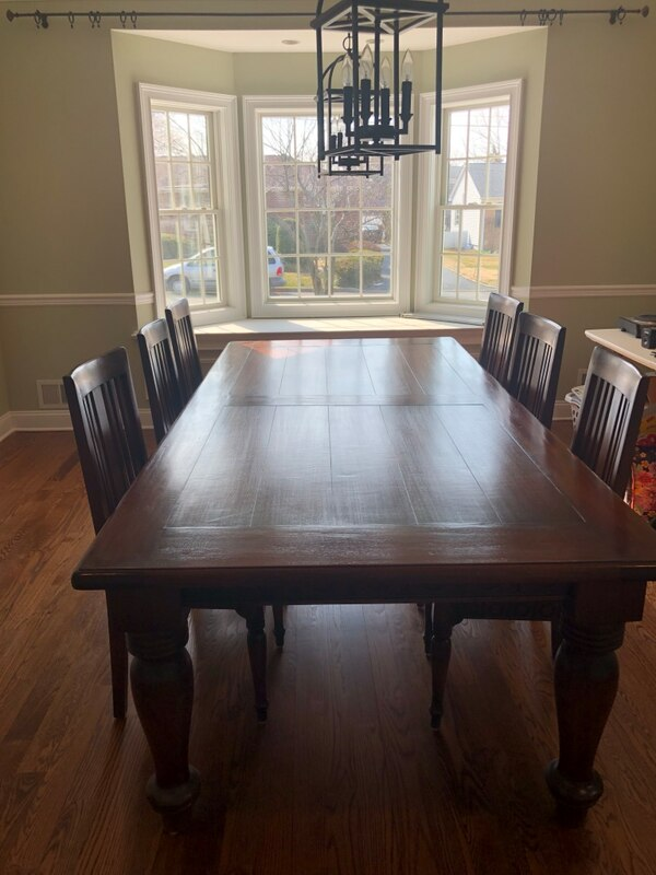 Platypus Dining Room Set Table 6 Chairs Hutch And Side Buffet Like New Condition Barely Used