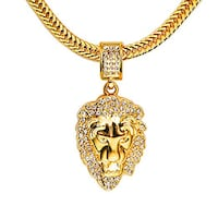 29 inch gold platted chain with lion pennant head San Leandro, 94578