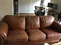 Brown Leather Couch Reston