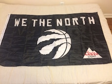 WE THE NORTH flag.