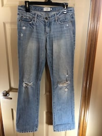 Light Blue Distressed Denim: Size 4 Oshawa, L1G 2J2