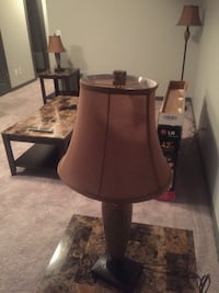 brown wooden base table lamp Calgary, T3M 2G5