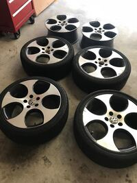 "VW 18"" Detroit wheels (all 6)  Fairfax, 22033"