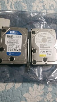 2 Sata harddrives 500 GB each  Brampton, L6Y 0N8