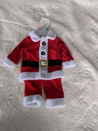 Santa Claus costume 3_6 months old Newmarket, L3X 3G1