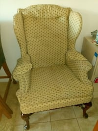 Vintage wingback chare