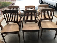 Solid oak chairs-6 Clovis, 93612