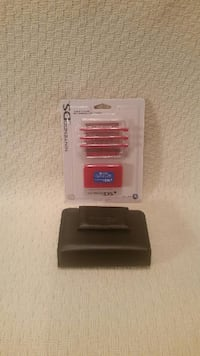 "Nintendo DSI accessories. Black case, gently used and new game holder and extra ""pens"" Manassas"