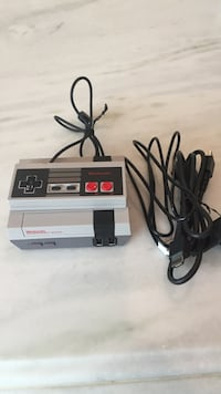 NES game console with controller
