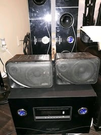 Powered sub sound bars rear speakers all for 100 all work  Dallas, 75244