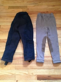 Black Tuff Rider insulated horse riding pants and Gray EQ horse riding pants-kids medium-like new Wallkill, NY 12589, USA