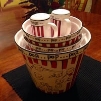 Ceramic pop corn set Columbia, 21044
