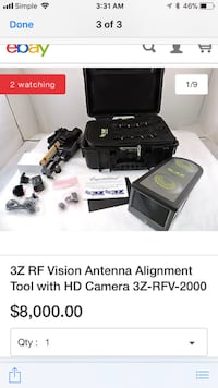 black and gray 3Z vision antenna alignment tool with HD camera screenshot