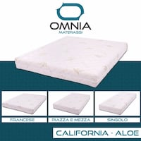 MATERASSO IN MEMORY FOAM H19 CM SFODERABILE ORTOPEDICO ANTIACARO CALIFORNIA ALOE