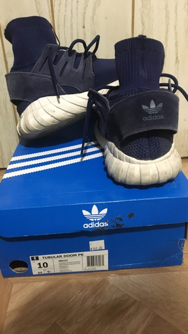 d5884adfddfe Used pair of blue Adidas Tubular Doom PK with box for sale in Mesa ...