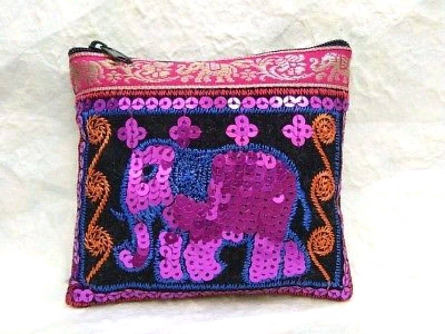 Photo Women's Elephant Coin Purse