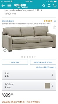 New modern couch and loveseat - bought for $1750 in Oct.  Rockville, 20854