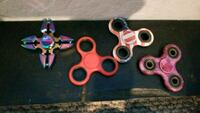 four assorted color fidget spinners Sparks, 89434