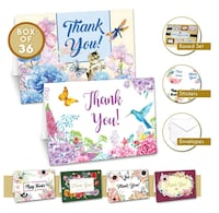 New Thank You Cards – 36 Blank Thank You Cards wit Costa Mesa, 92627