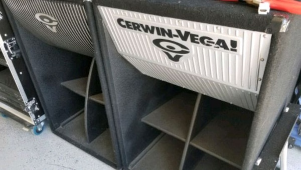 Cerwin Vega subwoofers and 2500 watt amp