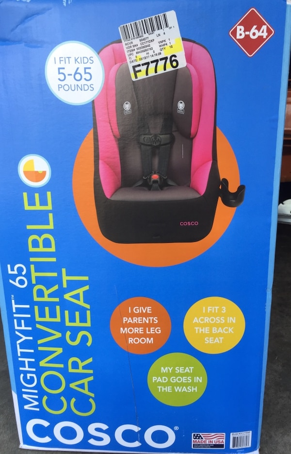 Cosco MightyFit 65 Convertible Car Seat Pink NEW