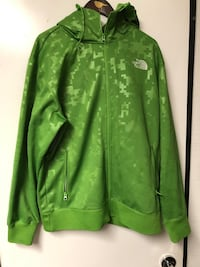 The North Face men's green zippered hoodie sz L Burnaby, V5G 3X4
