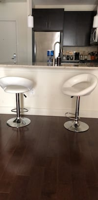 two white leather bar stools Harrison, 07029