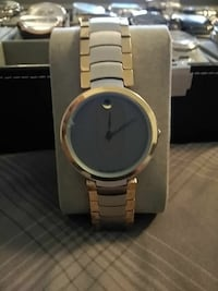 round gold analog watch with link bracelet Georgetown, 40324