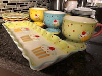 Cup cake tray , matching mugs and cake plates!!! Coquitlam, V3E 2T8