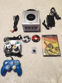 Nintendo GameCube system smash bros melee and Mario strikers plus memory card and 2 controllers  544 km