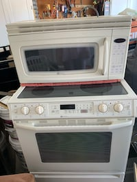 Maytag glass top electric stove &microwave for above stove Both Bisque Mesa, 85203