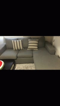 gray fabric sectional sofa with throw pillows Vancouver