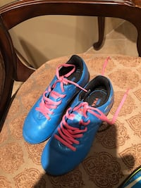 pair of blue-and-pink Nike basketball shoes Cambridge, N1T 2J1
