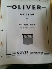 oliver parts book for no. 3216 plow Warwick, 02889