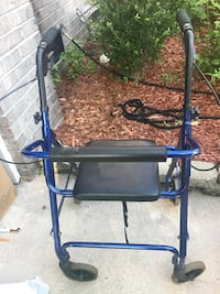 blue and black rollator walker
